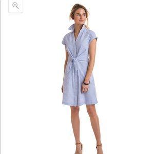 Vineyard vines seersucker tie front shirt dress